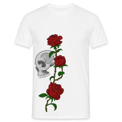 Skulls and roses - Men's T-Shirt