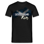 £18.28-Mens Grunge T-Shirt in Black with Scotland