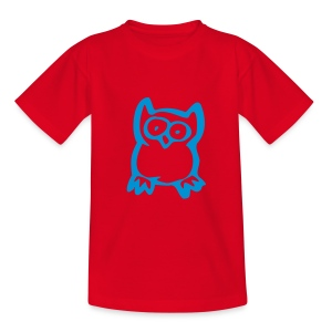 Cute For Kids - Owl (Red/Blue) - Teenage T-shirt