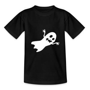 Halloween Ghost (Black/White) - Teenage T-shirt
