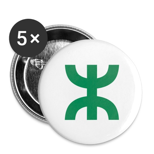 Aza amazigh stickers 5 pack - Buttons medium 1.26/32 mm (5-pack)