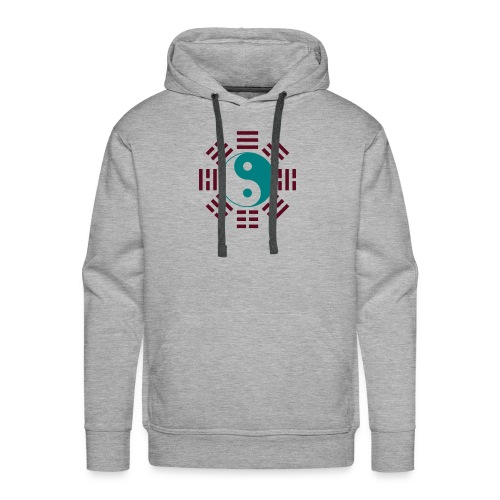 Bagua - Gray/Emerald/Burgundy - Men's Premium Hoodie
