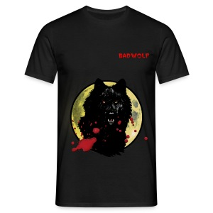 bw wolf/moon tshirt - Men's T-Shirt