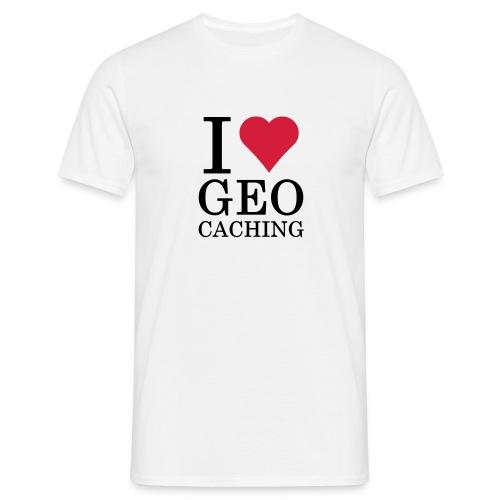 I love Geocaching - Männer T-Shirt