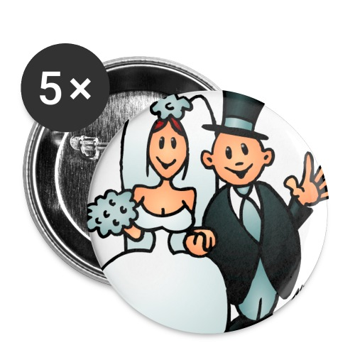 BADGE  mariage BIS - Badge grand 56 mm
