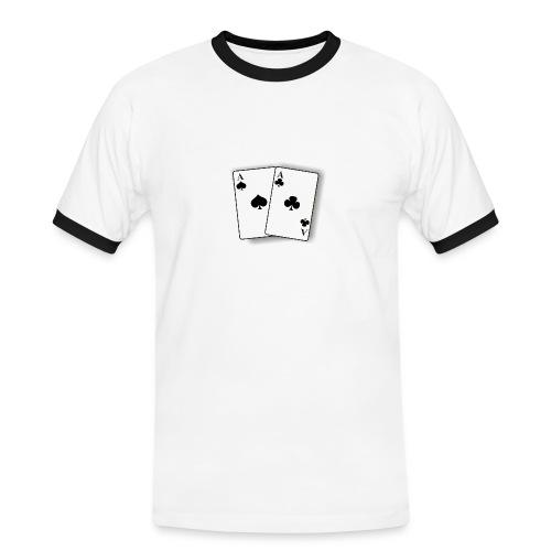 Funny - Kontrast-T-skjorte for menn