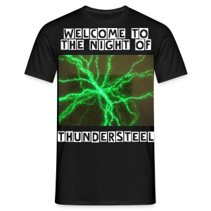 T-Shirt ThunderSteel - Welcome to the night... - Männer T-Shirt
