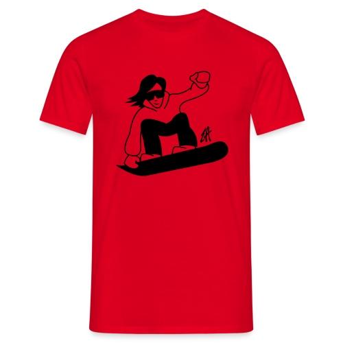 Snowboard - T-shirt herr