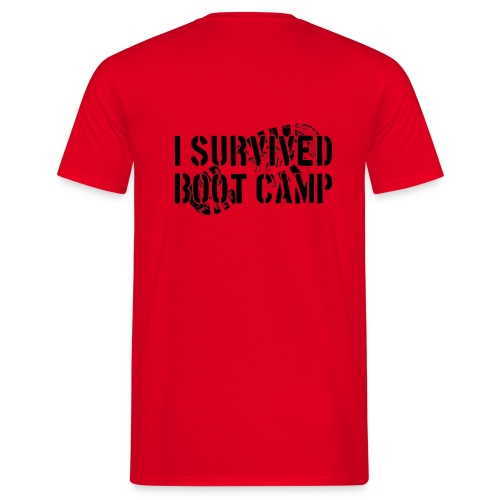 I Survived Boot Camp T-Shirt - Red - Men's T-Shirt