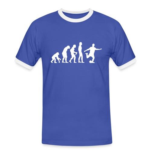 Rückenlogo BW90 - Männer Kontrast-T-Shirt