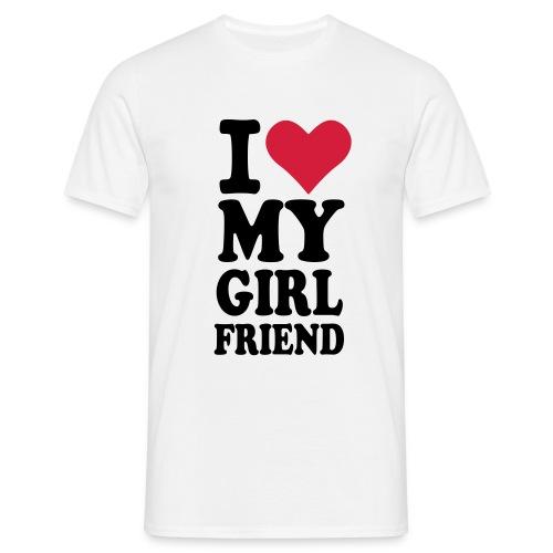 i love my boyfriend - Männer T-Shirt
