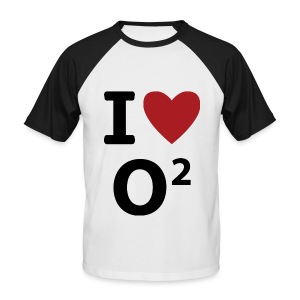 INFORMATIQUE - I Love O2 - T-shirt baseball manches courtes Homme