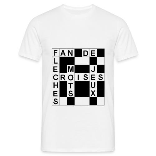 Tee-Shirt Homme Fan de mots croisés - T-shirt Homme