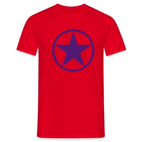 PURPLE STAR T-SHIRT - Men's T-Shirt