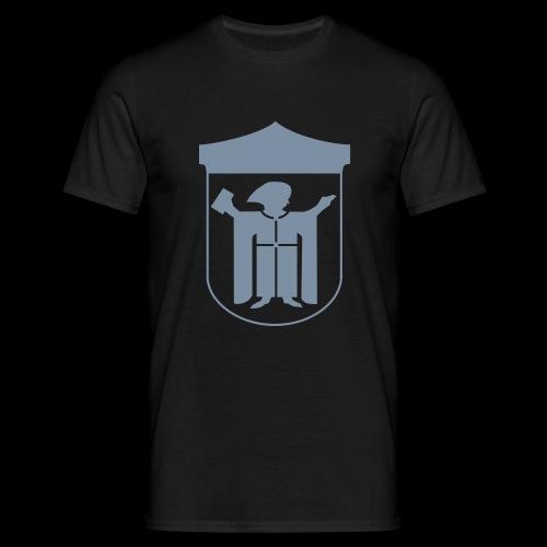 T-Shirt Klassisch Flockdruck silber - Männer T-Shirt