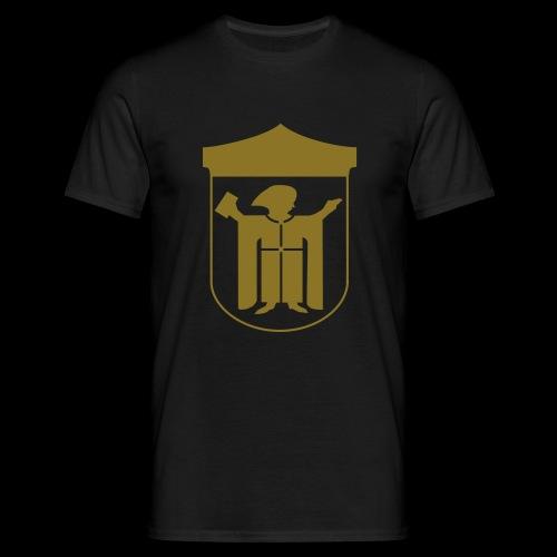 T-Shirt Klassisch Flexdruck gold matt - Männer T-Shirt