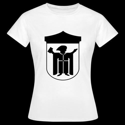 T-Shirt klassisch Flexdruck schwarz - Frauen T-Shirt