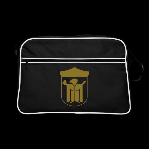 Retro Tasche Flexdruck gold matt - Retro Tasche