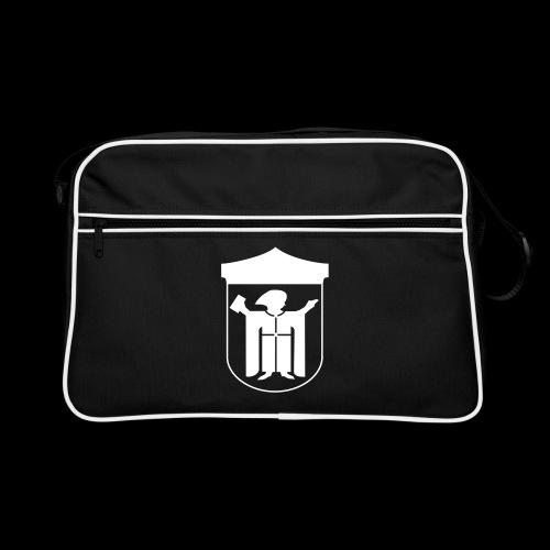 Retro Tasche Flexdruck weiß - Retro Tasche
