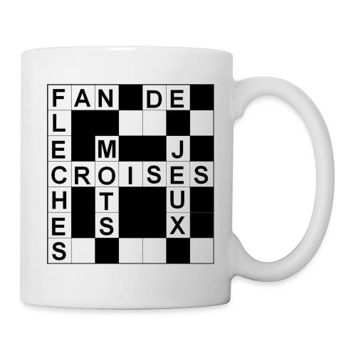 Mug Mots croisés pour gaucher - Mug blanc