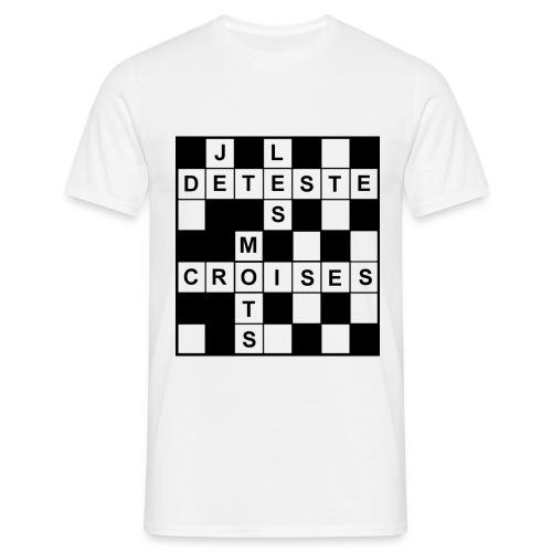 Je déteste les mots croisés - T-shirt Homme