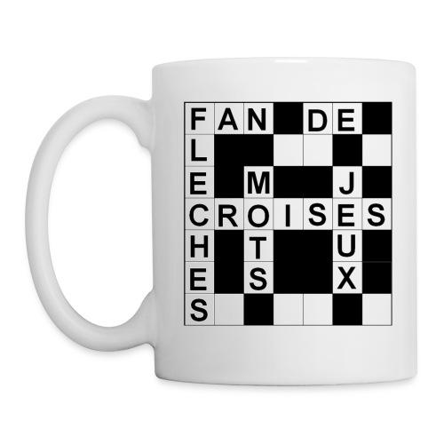 Mug Mots croisés pour droitier - Mug blanc