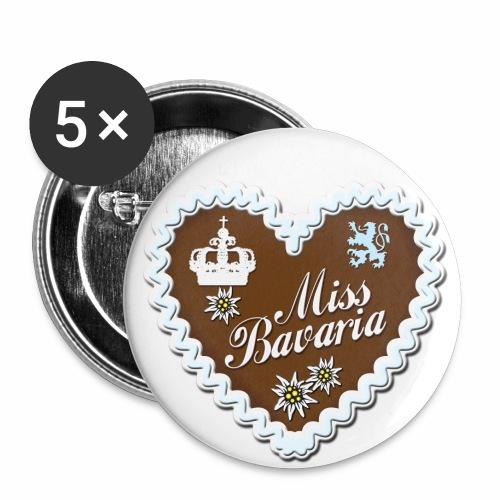 Miss Bavaria– Lebkuchenherz T-Shirt - Buttons groß 56 mm