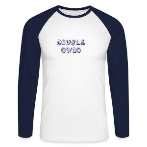 Double - Men's Long Sleeve Baseball T-Shirt