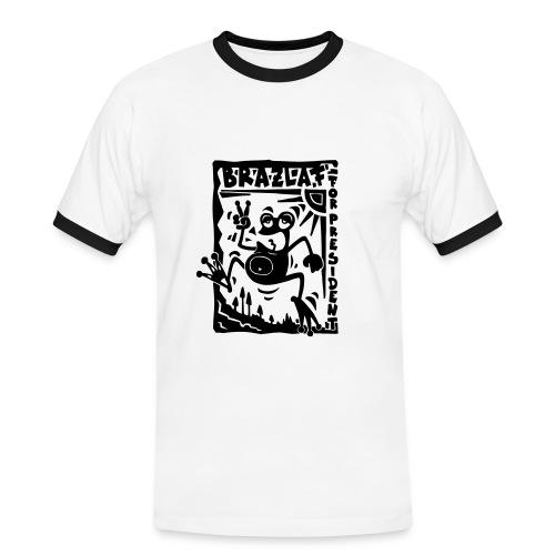 Brazlaf Black'n'White - Männer Kontrast-T-Shirt