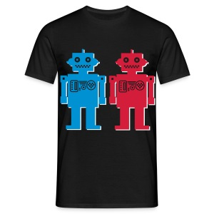 3D robot Couple  - Men's T-Shirt