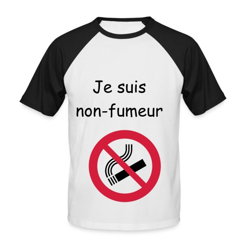 Anti-tabac - T-shirt baseball manches courtes Homme
