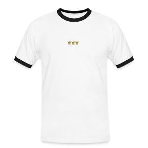 Quadratschnuess - Männer Kontrast-T-Shirt