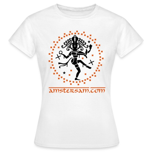 Women's  shirt 'Shiva' White/Black/Orange - Women's T-Shirt