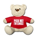 Rød pick me i'm single Bamser