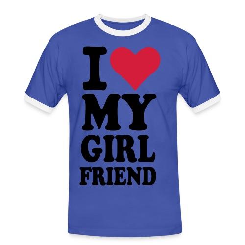 I love my girlfriend - Männer Kontrast-T-Shirt
