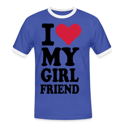 I love my girlfriend - Männer Kontrast-T-Shirt