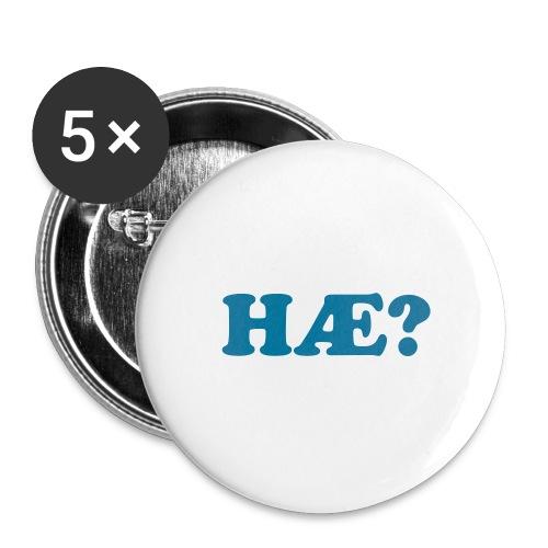 Button - HÆ? - Stor pin 56 mm