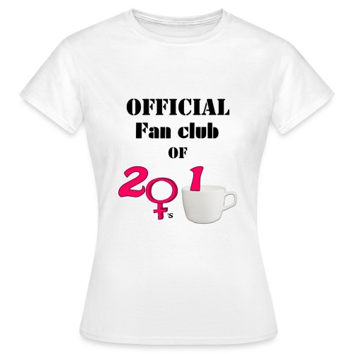 Naisten 2Girls1Cup fanipaita (valkoinen) - Naisten t-paita