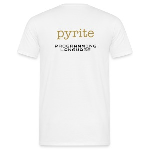 pyrite (with gold-sparkling text) - Men's T-Shirt