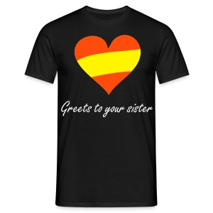 T-Shirt Emilio Fernandez - Greets to your sister - Männer T-Shirt