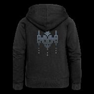 Hoodies & Sweatshirts ~ Women's Premium Hooded Jacket ~ hackerspace invader gal's hooded zipper