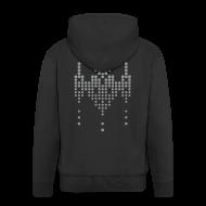 Hoodies & Sweatshirts ~ Men's Premium Hooded Jacket ~ hackerspace invader boy's hooded zipper