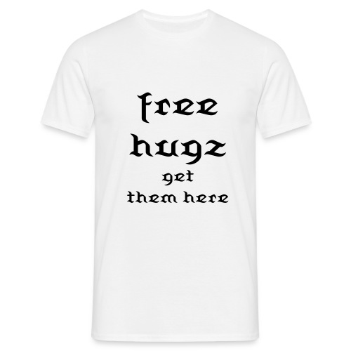 free hugz get theme here(male) - Mannen T-shirt