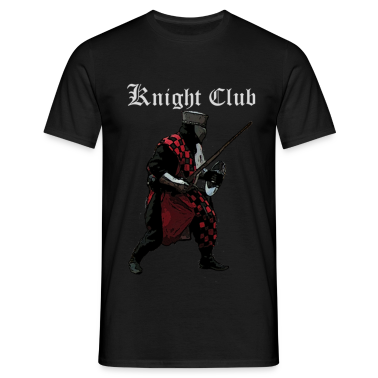 Black Knight fight Medieval Men's T-Shirts