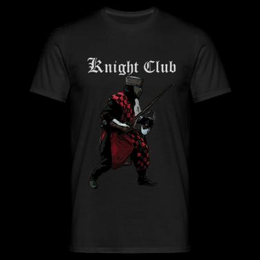Black Knight fight Medieval Men's T-Shirts
