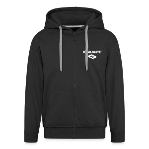 Vigilante - Logo - Hoody - 2 prints - Men's Premium Hooded Jacket