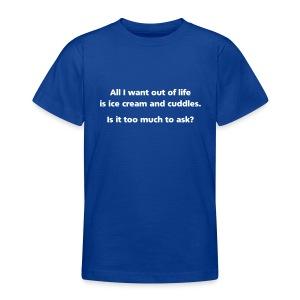 BOYS: Ice cream and cuddles - Teenage T-shirt