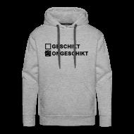 Sweaters ~ Mannen Premium hoodie ~ Ongeschikt - heren sweater capuchon