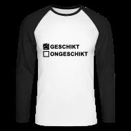 Shirts met lange mouwen ~ Mannen baseballshirt lange mouw ~ Geschikt - heren 2-kleuren lange mouw