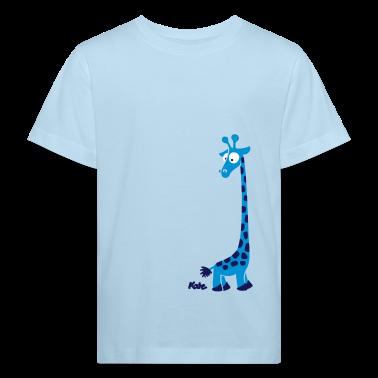Bleu pâle Girafe (c) T-shirts Enfants